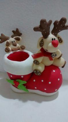 Porta palito para mesa natal! Biscuit da Yara.