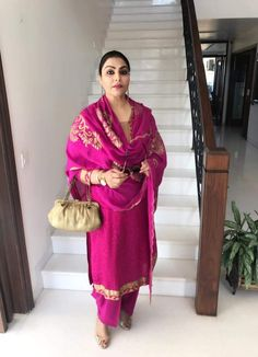 #pintrest@Dixna Deol Indian Suits, Indian Attire, Indian Dresses, Indian Wear, Designer Punjabi Suits, Indian Designer Wear, Suits For Women, Clothes For Women, Overalls Fashion