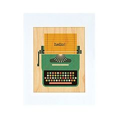 Petit Collage Unframed Print on Wood Wall Decor Typewriter Large ** Details can be found by clicking on the image.Note:It is affiliate link to Amazon.