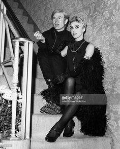 News Photo : Artist Andy Warhol and Edie Sedgwick, who wears a...