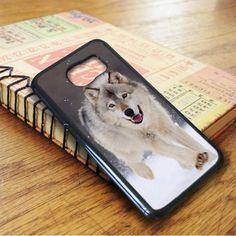 Wolf Run On White Snow Samsung Galaxy S6 Case