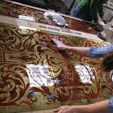 making eglomise glass panels