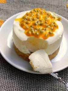 mousse au yaourt  à la vanille, passion et orange