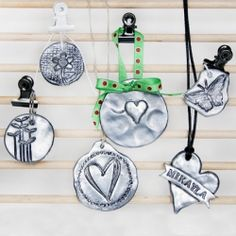 Learn how to make faux pewter pendants using simple craft supplies. Makes a great personalized gift. Full tutorial.