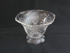 Heisey Glass Etched Orchid Mayo Bowl by DaisysAttic on Etsy, $26.00