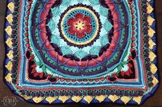 Sophie's Universe - Parts 1-5 - how to choose yarn colors for this crochet blanket cal on Colorful Christine