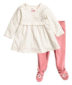 Dress and Leggings | Natural white | Kids | H&M US