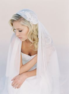 Juliet Cap Wedding Veil Bridal Veil Addorned with by veiled beauty 2015 Veiled Beauty Collection  Hand crafted by Kathy Banner  Made in the USA www.veiledbeauty.com Photo by Kurt Boomer