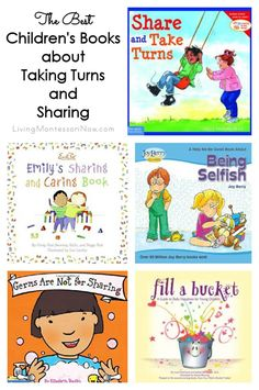 Here are some of the best books about taking turns and sharing for young children; post includes ideas for adapting books to make them more Montessori friendly.