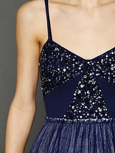 Like a beautiful fall night sky! Embellished Tulle Slip from Free People
