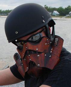 Leather Steampunk Trooper Mask