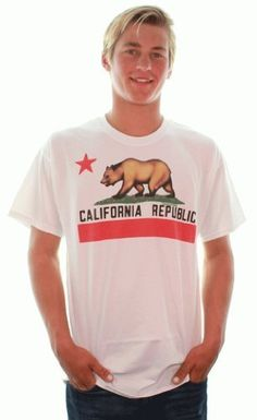 California State Flag T-shirt/tee by Dolphin Shirt Co - Borderless