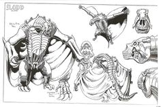 Art Adams Model Sheets for DC's 1993 'Bloodlines' Crossover [Art]