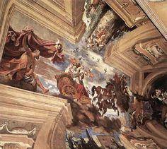 GUERCINO Aurora 1621-23 Fresco Casino dell'Aurora, Villa Boncompagni Ludovisi, Rome