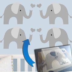 Elephant Nursery Decor Stencil Http Www Idealstencils Co Uk