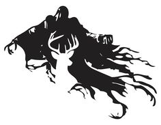 Harry Potter Stag Patronus and Dementor Silhouette Design! Get it as a Decal or Iron-On SHirt/Bag design! You can even customize it with whatever patronus you want! FREE SHIPPING!