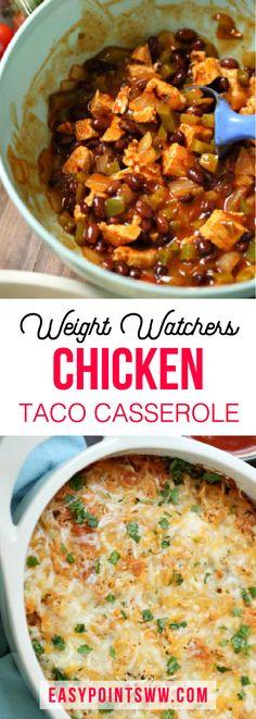 Weight Watchers Chicken Taco Casserole ♥