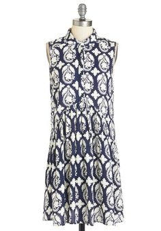 Pretty and Productive Dress. Flutter about town in this navy shirt dress and tackle that list of errands effortlessly! #multi #modcloth