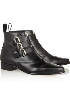 Tabitha Simmons | Early leather ankle boots | http://youtu.be/c2bVoMaKvrA