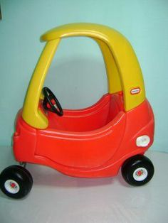 the cozy coupe little tykes red car with yellow roof i loved this