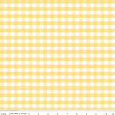 Riley Blake Designs - Flannel Basics - Medium Gingham in Yellow