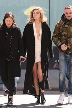 Breath-taking beauty: Gigi Hadid was once again seen showing off her model looks as she go...