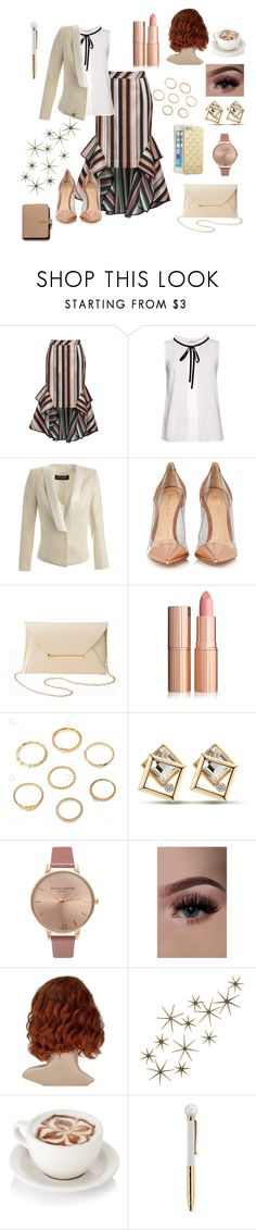 """Power Look✒📁📌"" by bill4life1 ❤ liked on Polyvore featuring Theo, Balmain, Gianvito Rossi, Charlotte Russe, Olivia Burton, Global Views and Mulberry"