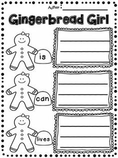 Gingerbread Writing Mini Unit focusing on Character Traits!!!!  Comparing Gingerbread Man and Gingerbread Girl.  This is a great unit for 1st and 2nd grade!