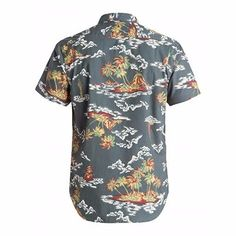 Alanic Global, reputed manufacturer, offers best quality of grey tropical print sublimated shirt at wholesale rate in USA, Australia and Canada.