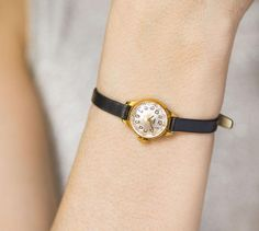 Gold plated watch tiny  round small watch Seagull  women
