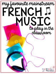 It is SO important to help our second-language and immersion students experience and celebrate French culture as much as possible! One way that we can do this is by playing mainstream French music in our classrooms - students may not always have the oppor French Songs, French Phrases, French Verbs, French Movies, French Teaching Resources, Teaching French, Teaching Ideas, Teaching Reading, Primary Teaching
