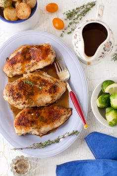 Pan-Roasted Chicken with Italian Seasonings and Dried Cèpe Gravy