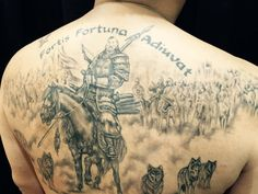 Fortis Fortuna Adiuvat tattoo. Fortune Favours The Bold Tattoo.Artist Sumithra Debi. Sutattoo. Johnny Two Thumbs.Exotic Tattoos & Piercings The One  Original Johnny Two Thumbs Family.http://exoticpiercing.tattoo/web/contact/