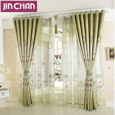 Lotus Leaves Printed Fabric Blackout Curtain For Living Room Window Treatments For Bedroom Kitchen Window Shades Drapes *** Check out the image by visiting the link.