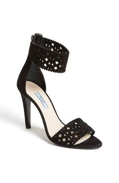 Prada Laser Cut Ankle Cuff Sandal available at #Nordstrom