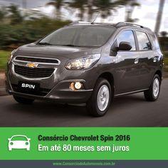 O Chevrolet Spin já chegou à linha 2016. Que tal aproveitar e programar a compra do seu por meio do consórcio? https://www.consorciodeautomoveis.com.br/noticias/chevrolet-spin-2016-em-ate-80-meses-sem-juros-pelo-consorcio?idcampanha=206&utm_source=Pinterest&utm_medium=Perfil&utm_campaign=redessociais