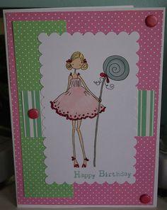 Cute Stamping Bella card. By Ham'n'Mule Designs.
