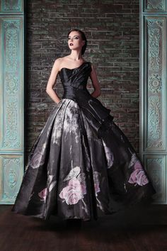 Draped Silk Couture Gown