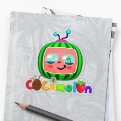 'Cocomelon kids sunglasses' Sticker by StefaniaAlina Kids Sunglasses, Transparent Stickers, Glossier Stickers, Chiffon Tops, Classic T Shirts, My Arts, Art Prints, Printed, Awesome