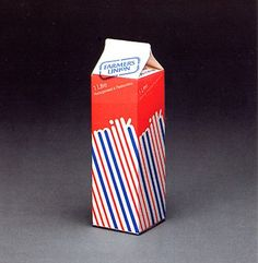 Vintage milk packaging