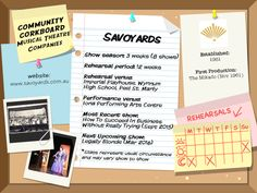 Savoyards - Community Corkboard interview on amywinner.com Watch This Space, 16 Year Old, Manners, Musicals, High School, Interview, How To Apply, Community, Secondary School