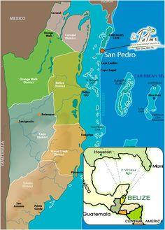 Political Map Of Belize Ezilon Maps Cocos Mission Pinterest - Belize political map
