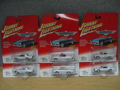 Thunderbird Ford Series White Lightning 2002 Johnny Lightning Lot of 6 #455-01 #JohnnyLightning #Ford
