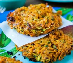 Spicy sweet potato fritters