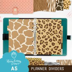 SALE 50% Planner theme: ANIMAL PRINT Safari  by StrawberryScraps