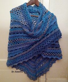 Smuggler shawl met patroon