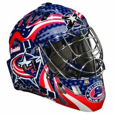 NHL Columbus Blue Jackets SX Comp GFM 100 Goalie Face Mask by Franklin. $35.05. Show your team spirit with the Franklin Columbus Blue Jackets NHL Team Goalie Mask Emblazoned with officially licensed team logos and colors and featuring High impact ABS Plastic with antimicrobial technology. Anatomically designed for safety and comfort with adjustable quick-snap straps to ensure proper fit. Sized for kids ages 5-9 and only for street hockey use. Not intended for ice hockey or any ty...