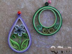 Pendant, earrings, hoops, teardrop, green, purple.