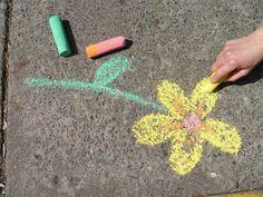 Pintar el suelo con tiza? si! pero mas entretenido si las fabricas tu mismo!!