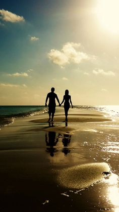 Lovers Images, RP FHDQ Wallpapers For Desktop And Mobile Lovers Picture Wallpapers Wallpapers) Beach Pictures, Couple Pictures, Plage Couples, Lovers Pics, Couple Silhouette, Photo Couple, Cute Relationship Goals, Love Wallpaper, Cute Couples Goals
